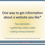 HOW-TO: Get colours and measurements from websites